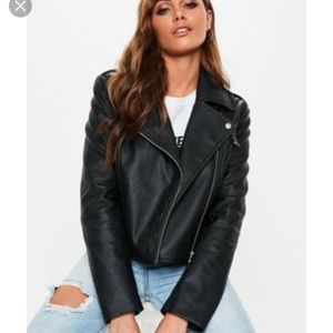 Max Jeans Vegan Leather Jacket